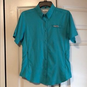 Columbia PFG vented turquoise size med